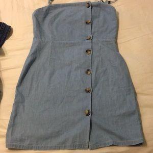 Denim colored dress